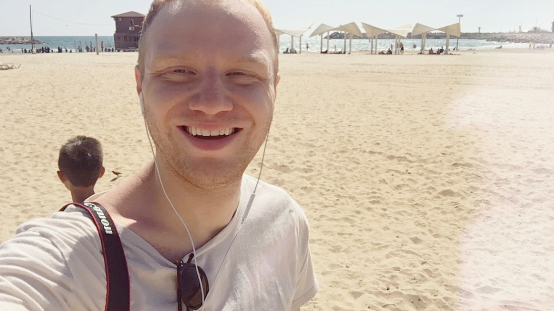 Me at the beach in Israel || ZacharyLeo.com